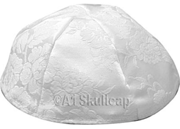 White Brocade Kippah
