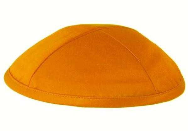 Orange Satin Deluxe Kippah
