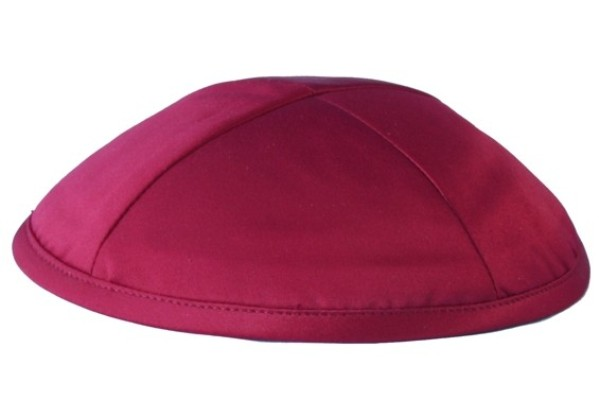 Red Deluxe Satin Kippah