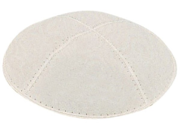 Off White Suede Kippah