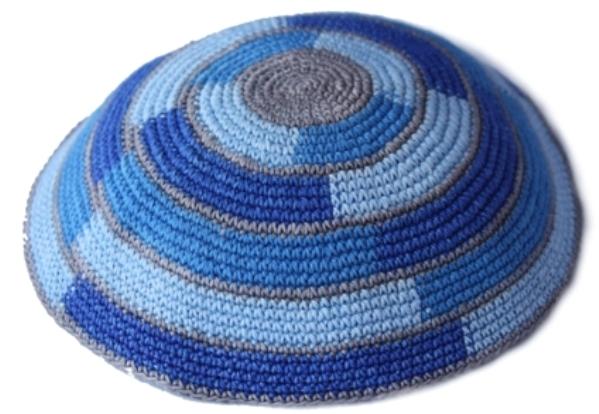 Shades Of Blue Cotton Crochet Crochet Knit Kippah