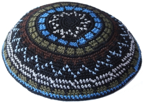 Multi Color Design Crochet Knit Kippah