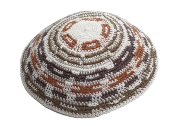 Multi Color Cotton Crochet Knit Kippah