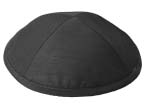 Black Raw Silk Kippot