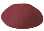 Burgundy Raw Silk Kippot