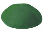 Green Raw silk Kippah