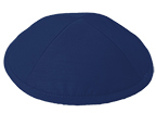 Navy Blue Raw Silk Kippot