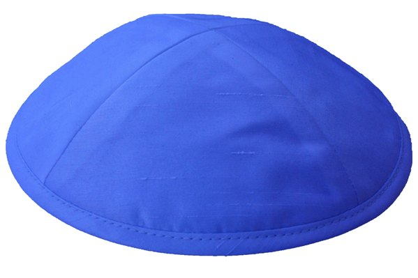 Royal Blue Raw silk Kippah