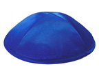 Royal Blue Satin  Deluxe Kippah