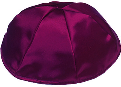 Burgandy Satin Kippah