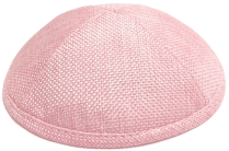 Pink Burlap Kippah