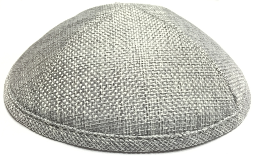 Light Gray Burlap Kippah
