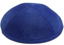 Royal Blue Burlap Kippah