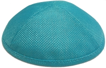 Turquoise Burlap Kippah