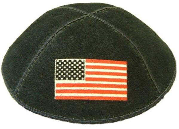 American Flag Black Custom Kippah
