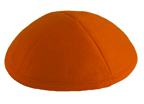 Dark Orange Felt Kippot