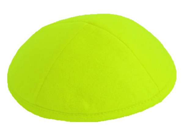 Lime Green Felt Kippah