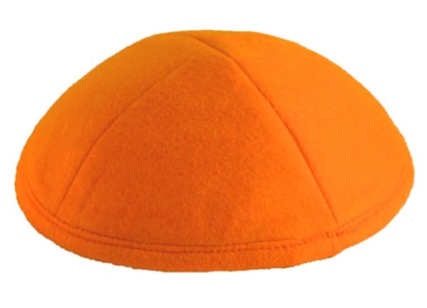 Orange Felt Kippah