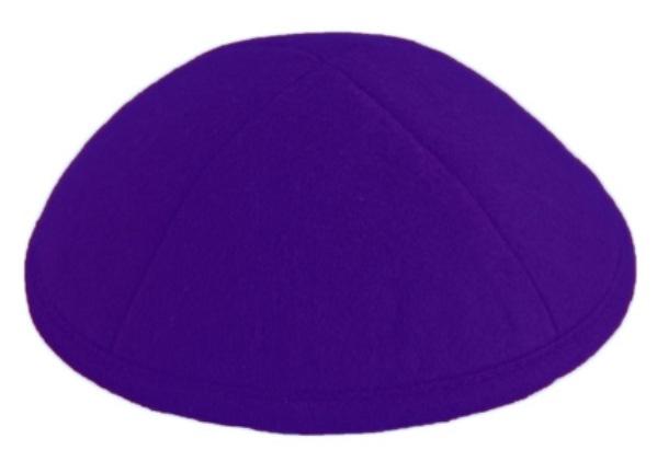 Purple Felt Kippah