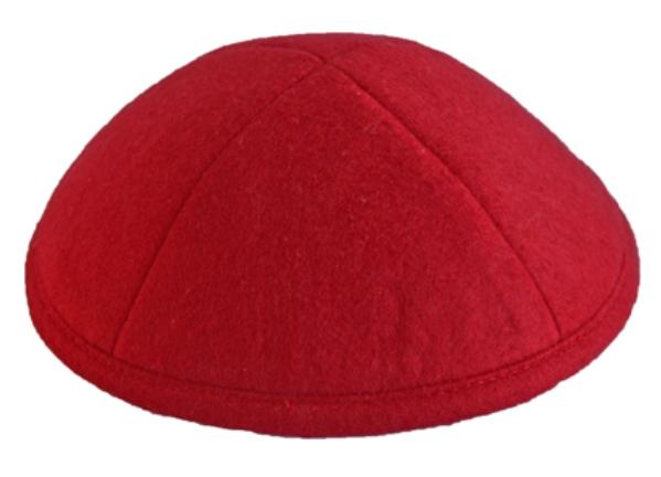 Red  Felt Kippah