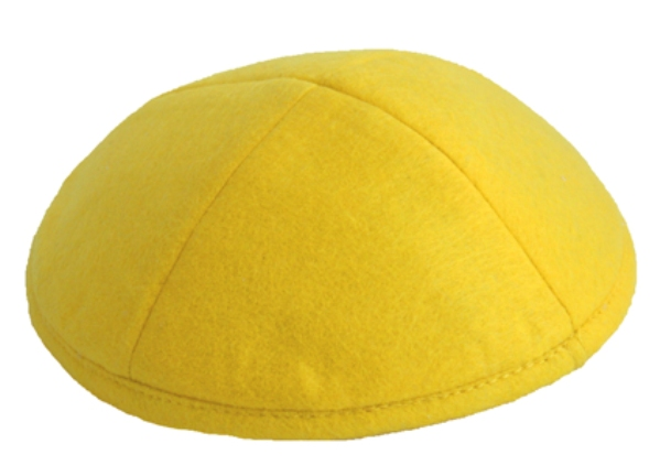 Yellow Felt Kippah