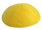 Yellow Felt Kippot