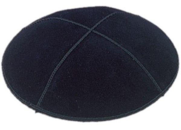 Black Suede Kippah