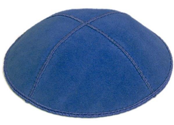 Dark Royal Blue Suede Kippah