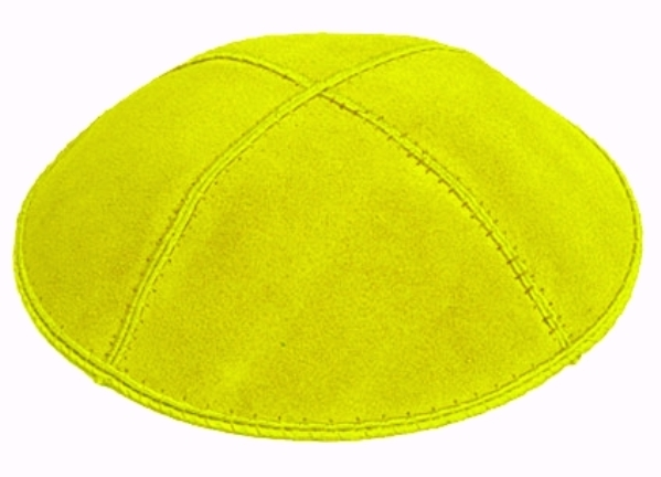 Lime Suede Kippah