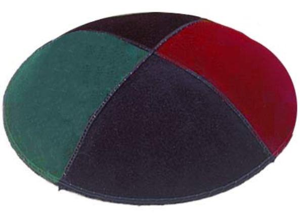Multicolor 4 Suede Kippah