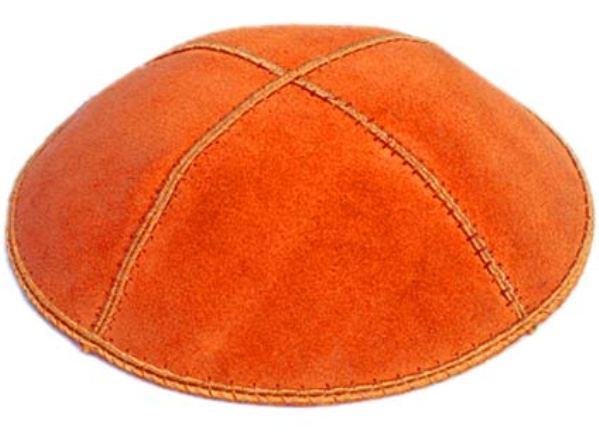Orange Suede Kippah