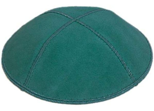 Teal Green Suede Kippah