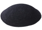 Knit-21 - Black Knit Kippah