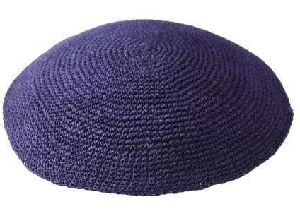 Knit-22 - Blue Knit Kippah