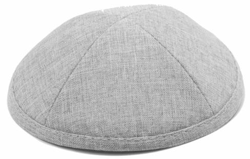Gray Linen Kippah