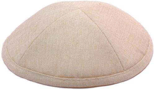 Cream Linen Kippah