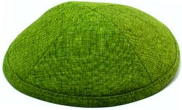 Grass Green Linen Kippah