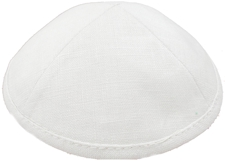 Light Grey Linen Kippah