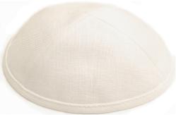 Ivory Linen Kippah