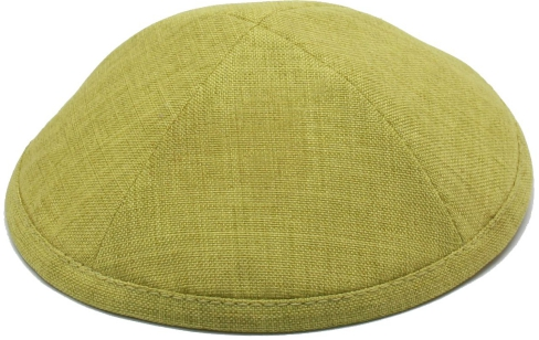 Lemon Grass Linen Kippah