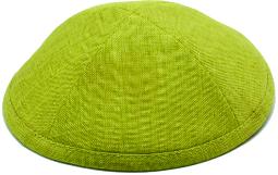 Lemon Grass Linen Kippah