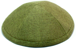 Olive Linen Kippah