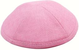 Pink Linen Kippah