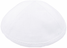 White Linen Kippah
