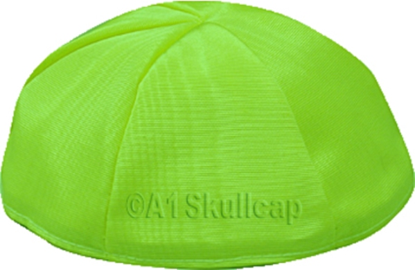 Lime Green Moire Kippah