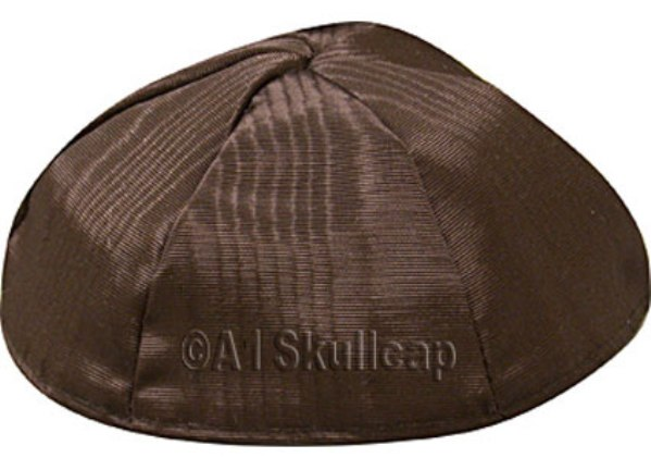 Brown Moire Kippah