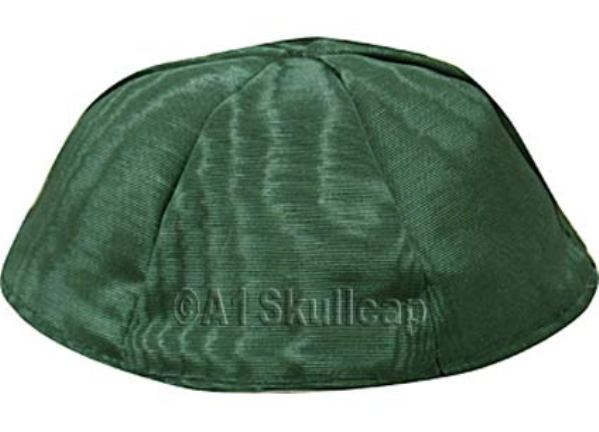Hunter Green Moire Kippah