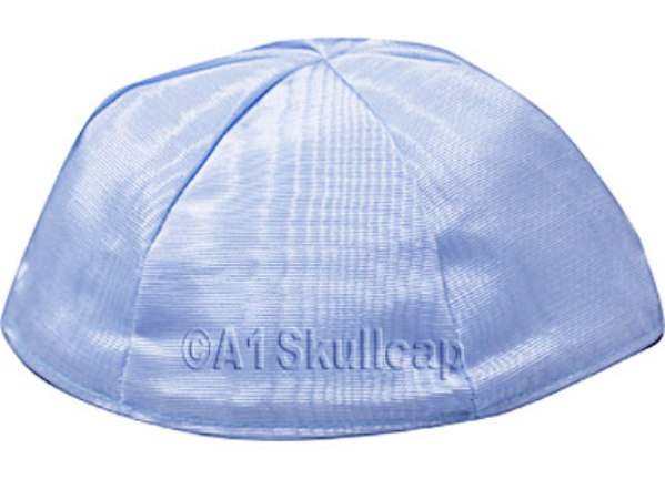 Light Blue Moire Kippah