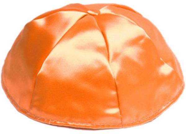 Orange Satin Kippah