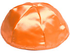Orange Satin Kippot